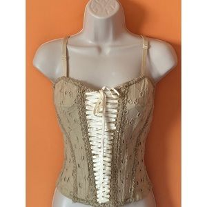 Eyelet Lace Up Corset Bustier